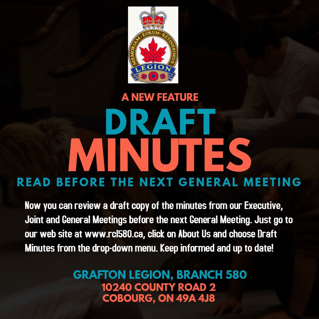 draft minutes from march 1 meeting online royal canadian legion