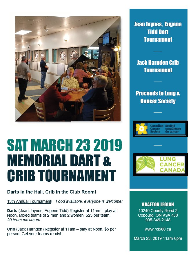 13th Annual Jaynes/Tidd/Harnden Memorial Dart & Crib Tournament