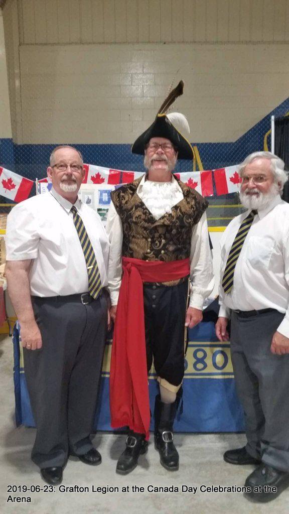 PRO John Grozelle, Town Crier Liam Cragg, Legion Member Jim Routh